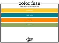Color Fuse (CCC11: Boo to You) - StudioOnyx.net - Crushed Curry, Island Indigo, Pumpkin Pie and Wild Wasabi #stampinup #color #colorfuse #colorcombo #colorinspiration #ccc11