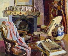 Duncan Grant (UK, - Interior - 1929 oil on canvas - The Ashmolean Museum of Art and Archaeology Oxford, UK Duncan Grant, Vanessa Bell, Virginia Woolf, Art Grants, Bell Art, Bloomsbury Group, Post Impressionism, Art Uk, Art For Art Sake