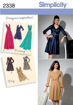 Simplicity 2338 from Simplicity patterns is a Misses' & Plus Size Day to Evening Dresses sewing pattern