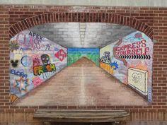 Art of Apex High School: Chalk Murals Perspective : Final Middle School Art, Art School, Apex High School, 1 Point Perspective, Open Art, Installation Art, Art Installations, Elements Of Art, Chalk Art