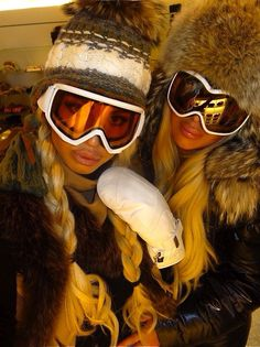 Euro ski style is so glam, I just can't even.