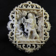 Antique Original 17th Century Hand Carved by HighEndSilverJewelry