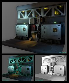 sci-fi corridor environment that I'm working on in UDK