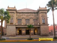 Teatro Ricardo Castro Durango Mexico, Birth, Mansions, House Styles, Viva Mexico, Theater, Countries, Historia, Villas