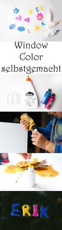Window Color selber machen. DIY Farben. Ideen zum Malen mit Kindern