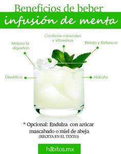 Beneficios de beber infusión de menta!! Healthy Juices, Healthy Drinks, Healthy Tips, Healthy Recipes, Natural Medicine, Herbal Medicine, Health And Nutrition, Health And Wellness, Detox Tips
