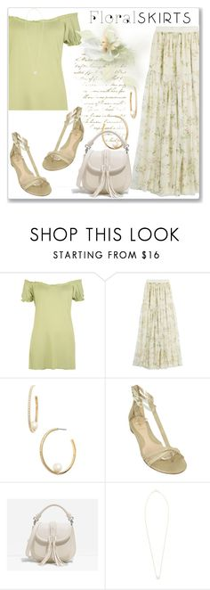 """""""The Perfect Summer Floral Skirt"""" by andrejae ❤ liked on Polyvore featuring WearAll, Giambattista Valli, Kate Spade, Fendi, CHARLES & KEITH, Dogeared and Floralskirts"""