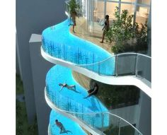 Oh yes.  Waft away in water in the sky outside your apartment anytime.  Not for vertigo sufferers.  But definitely for me.  What a great, if an architecturally challenging idea.