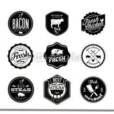 Rótulos Premium Beef: Vector