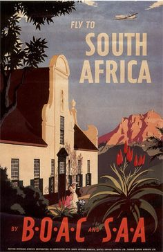 A SLICE IN TIME Fly to South Africa Airplane Vintage African Travel Advertisement Collectible Wall Decor Poster Print. Measures 10 x inches Retro Airline, Airline Travel, Travel Ads, Vintage Airline, Air Travel, Retro Poster, Poster Vintage, Vintage Travel Posters, Posters Decor