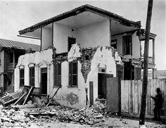 Charleston, South Carolina, Earthquake August 31, 1886. Brick house at 157 Tradd Street. JK Hillers