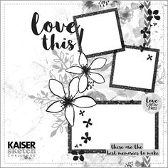 Kaisercraft is out with a new challenge . This time, it's a new sketch challenge. I have used the sweet Wildflower collection. I don...