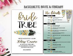 Bride Tribe, Itinerary Bachelorette, Bachelorette Party Invite, Tribal Bachelorette, Drunk In Love, Vegas, Nashville bach, Feyonce by AWickedWhim on Etsy