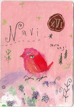 ナヴィ…赤く小さな鳥です。未来を見通しているので、捕まえることは出来ません。その鳴き声で、未来を予言します。美しい森に…鈴が転がるような…ナヴィの歌声響きます…その音色に応えるように…ネロリの白い花々が…可憐に…笑うように…咲きこぼれます…ネロリの丘から…優しく…甘い香りが…森いっぱいに拡がります…安らかな眠りが…ふわり…草木や虫、生き物たちを…静かに…そっと…包みます…その夢ユメの…通い路…ナヴィは歌います…やがてこの森に始まる…愛しく…温かな…恋の詩を…