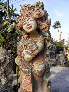 Beautiful statue, Denpasar, Bali, Indonesia