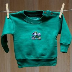 Notre Dame Baby Sweat Shirt - Green