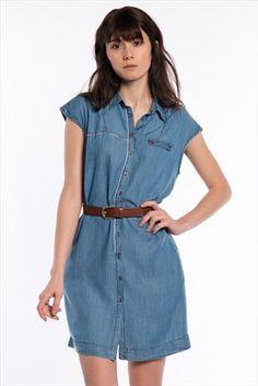 Bayan Elbise 130146-10242 Mavi | Trendyol