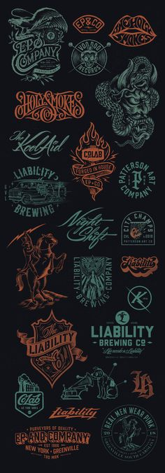Chad Patterson on Behance Vintage Fonts, Vintage Typography, Typography Art, Lettering, Logo Vintage, Branding Design, Logo Design, Behance, Badge Design