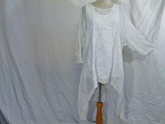 Lagenlook  Zipfeltunika Weiß von ziplizap auf DaWanda.com