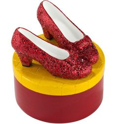 Dept. 56 Wizard of Oz Ruby Slippers Tinket Box $18.49