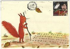 Mail art --- address and envelope illustrated Mail Art Envelopes, Decorated Envelopes, Envelope Art, Lost Art, Letter Art, Letter Writing, Snail Mail, Children's Book Illustration, Poster