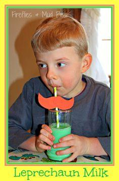 Mustache Straws aren't just for St. Patrick's Day, but in this version, enjoy Leprechaun Milk with an orange mustache straw!