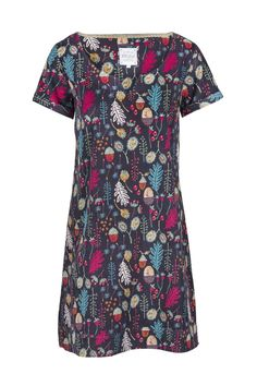 Womens Autumnal Acorn Tunic Dress | Mistral