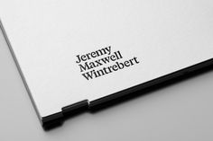 Jeremy Maxwell Wintrebert identity by Studio Hey | Trendland