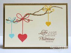 """blog.karten-kunst.de - Gastbeitrag von Martina. Memory Box Stanzschablone – Precious Hearts, Memory Box Stanzschablone – Woodland Branch, Karten-Kunst Clear Stamp Set – Weise Worte """"Liebe"""""""