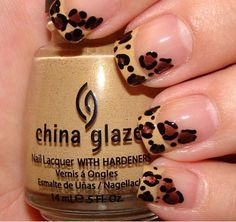 leopard french manicure!