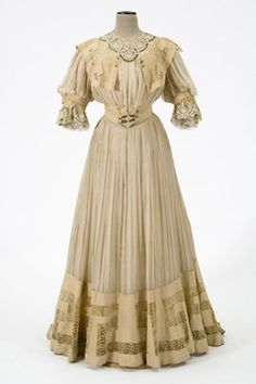 Dress with day and evening bodices ca. 1905    From the Minnesota Historical Society