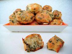 Muffiny ze szpinakiem i serem feta Spinach Muffins, Feta, Appetizers, Cooking, Breakfast, Ideas, Kitchen, Morning Coffee, Appetizer