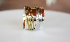 Extra Wide Sterling SilverSpinner Ringworry ringWorry Ring
