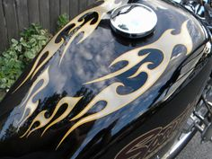 East Coast Vinyl Werkz - 14 pc. Tribal Flame decals for motorcycle - Choose your flame and pinstripe colors, $26.95 (http://www.eastcoastvinylwerkz.com/14-pc-tribal-flames-choose-your-flame-and-pinstripe-colors/)