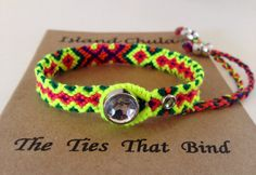 2way closure/Friendship bracelet/Neon Mix by IslandChula on Etsy
