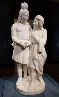Hiawatha's Marriage (1871) by Edmonia Lewis (1844–1907)