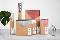 Student work: Graphic design, branding, and packaging by Rasmus Erixon and Tobias Möller for Klässbols Linen Factory. Rasmus Erixon and Tobias Möller, two