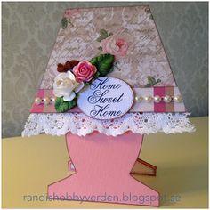 Randis hobbyverden: Rosa lampe (med mal)