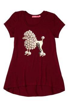 Short Sleeve Poodle Printed Hi-Lo Top on HauteLook