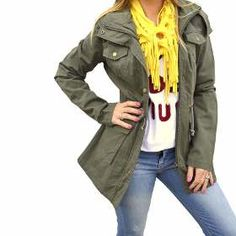 Campera De Gabardina Camuflada Militar Mujer The Big Shop -   890 0fa8cbc67868