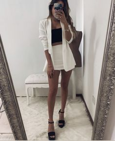 Bad And Boujee Outfits, Cute Skirt Outfits, Blazer Outfits, Mode Outfits, Night Outfits, Classy Outfits, Pretty Outfits, Summer Outfits, Casual Outfits