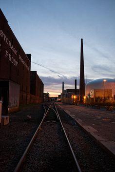Grand Junction Railroad line near MIT.