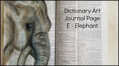 Dictionary Mixed Media Journal - Elephant