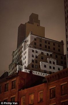 dramatic - lights out in Manhattan during Hurricane Sandy