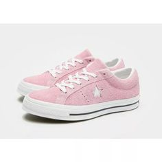 Converse Chaussures de basket Sneakers femmes - Converse One Star Ox rose. Jeans Und Sneakers, How To Wear Sneakers, Sneakers Mode, Pink Sneakers, New Sneakers, Converse Sneakers, Sneakers Fashion, Converse Fashion, Converse Rose