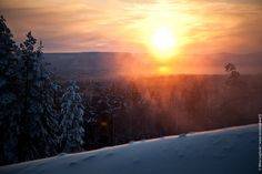 A little piece of sunshine from the Pyhätunturi fell. The sun does not go much higher in December!