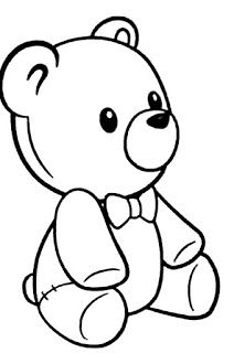 Teddy bear drawing Coloring Page Teddy Bear Drawing Easy, Cute Bear Drawings, Cartoon Drawings, Easy Drawings, Teddy Bear Cartoon, Cute Teddy Bears, Free Applique Patterns, Christmas Teddy Bear, Simple Cartoon