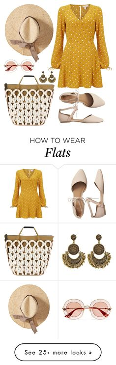 """Summer Garden Party"" by stylebrunette on Polyvore featuring Miss Selfridge, Marni, Gap and Gucci"