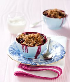 Anyone who turns down pear and blackberry crumble needs to have their sanity examined. This dish is tasty beyond belief: http://sourcefoodsblog.blogspot.com/2014/03/decadent-pear-and-blackberry-crumble.html