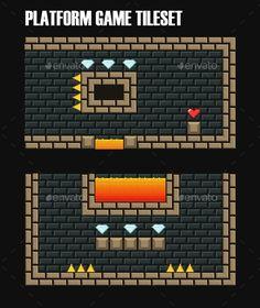 Platform Game Tileset Subterranean (Tilesets)